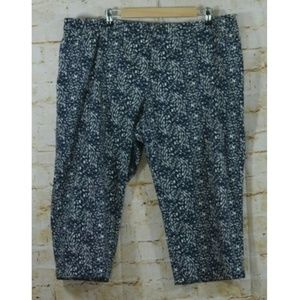 Coldwater Creek Natural Fit  Abstract Capri Pants